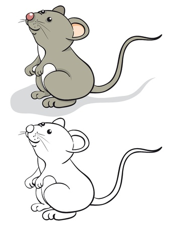 Photo for Fun mouse. Color and contour - Royalty Free Image