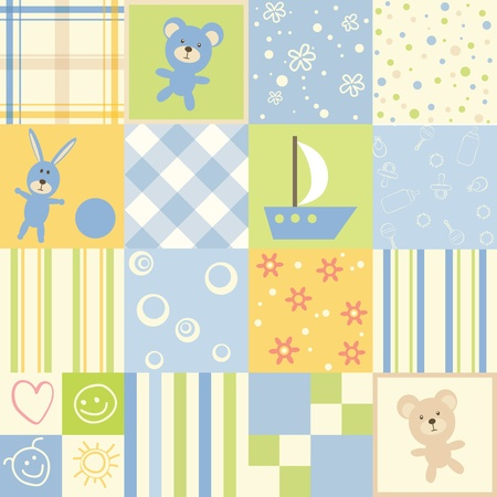 Photo for Baby seamless. Set of child patterns - Royalty Free Image