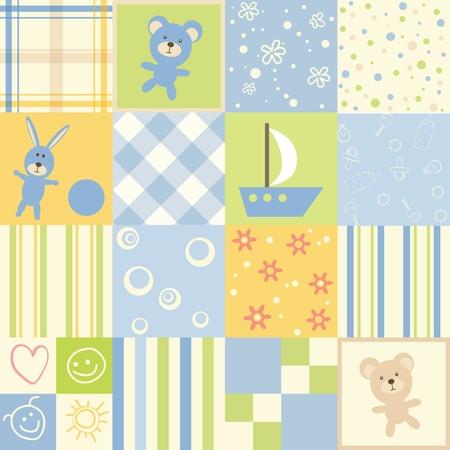 Foto de Baby seamless. Set of child patterns - Imagen libre de derechos