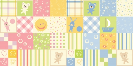 Photo for Baby seamless. Set of child patterns for boys and girls - Royalty Free Image