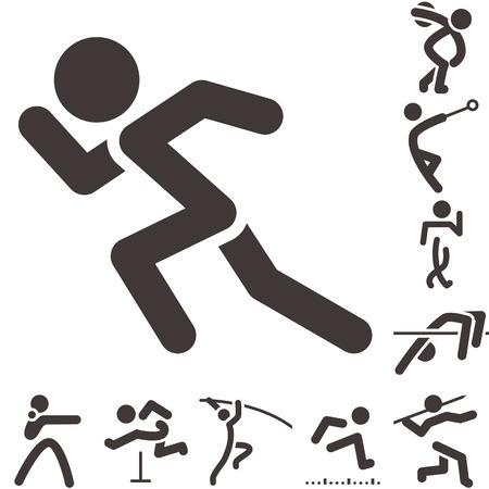 Foto de Summer sports icons -  set of athletics icons - Imagen libre de derechos