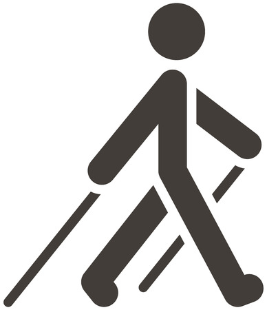 Illustration for Health and Fitness icons set - Nordic Walking icon - Royalty Free Image