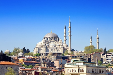 Photo for Istanbul Suleymaniye Mosque built by Suleiman the Magnificent - Royalty Free Image