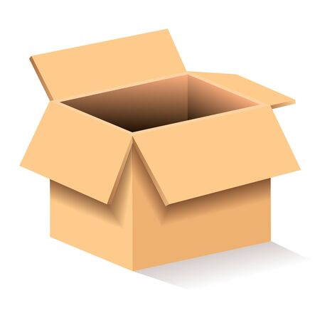 Illustration pour Cardboard Box Vector Illustrations Suitable For Greeting Card, Poster Or T-shirt Printing. - image libre de droit
