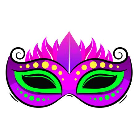 Illustration pour Beautiful Mask Of Lace. Mardi Gras Vector Background Fun Mystery Holidays Sign Design. - image libre de droit
