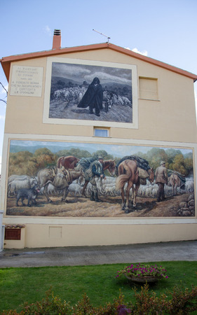 Wall painting murals in Fonni, Sardinia, Italy
