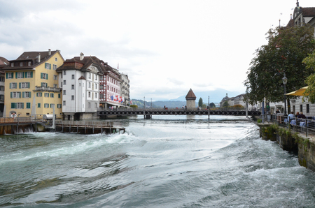 Foto per A view of Lucerne city, Switzerland - Immagine Royalty Free