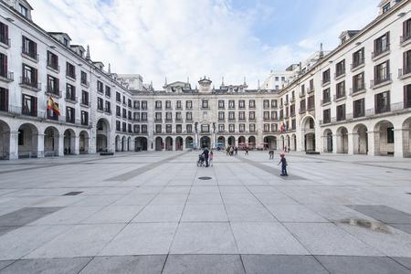 Santander, Cantabria, Spain-25 october 2015: arcaded square in Santander.