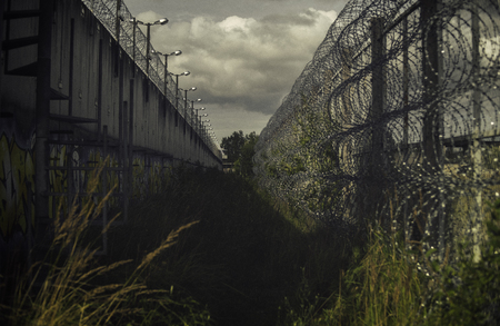 Photo for Abandoned Prison Jail Ruin Forgotten Imprisonment Freedom Concept - Royalty Free Image