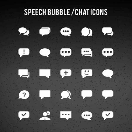 Speech Bubble Icons. For web design and application interface, also useful for infographics. Vector illustration.