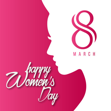 Illustration pour Women's day design card with creative design vector - image libre de droit