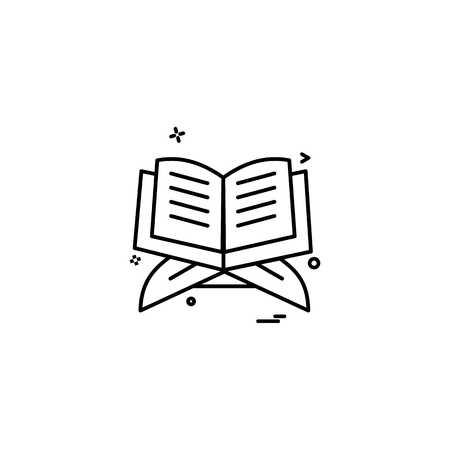 Illustration pour Holy Quran icon design vector - image libre de droit