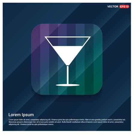 Illustration pour cocktail drink icon - image libre de droit