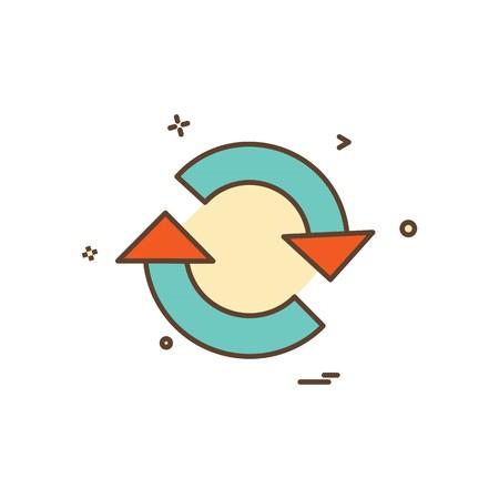 Illustration pour Refresh icon design vector - image libre de droit