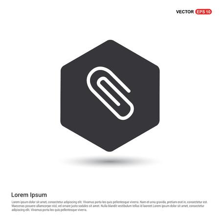 Ilustración de paper clip icon - Imagen libre de derechos