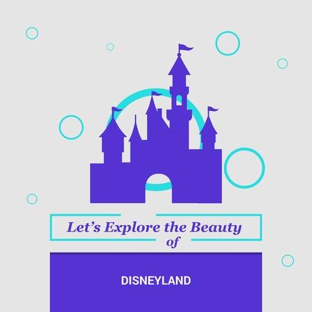 Illustration for Let's Explore the beauty of Disneyland California, United States National Landmarks - Royalty Free Image