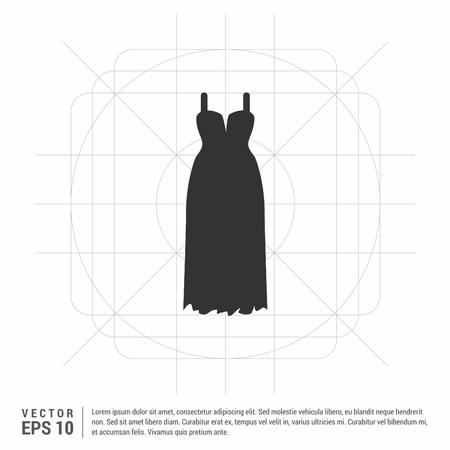Illustration pour Bride Dress Icon - image libre de droit