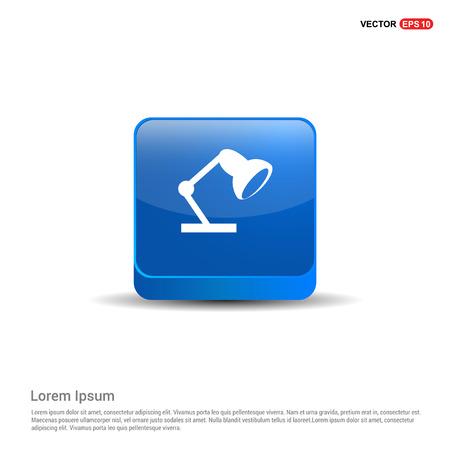 Illustration pour Reading lamp icon - 3d Blue Button. - image libre de droit