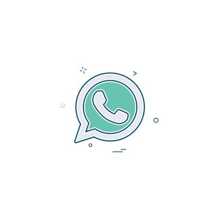 Illustration pour Whatsapp icon design vector - image libre de droit