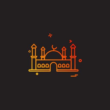Illustration pour Mosque icon design vector - image libre de droit