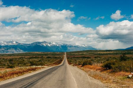 Photo pour road in national park Torres del Paine, patagonia, argentina. - image libre de droit