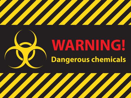 warning dangerous chemicals sign, illustration vector