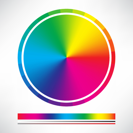 Illustration for Color chart and Color wheel circle vector - Royalty Free Image