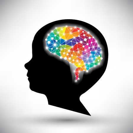 Illustration pour colorful concept of the human brain vector background - image libre de droit