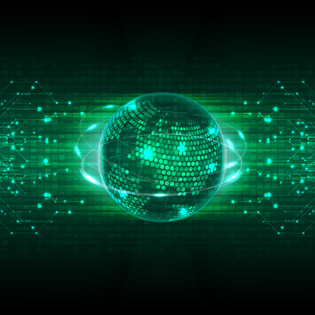 Illustration pour abstract future technology concept background vector - image libre de droit