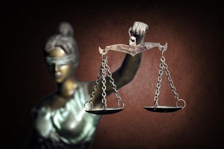 Photo pour Lady Justice on ruddy background - image libre de droit