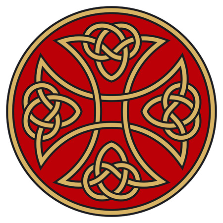 Symbolic celtic cross with detailed ornaments