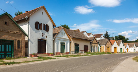 Hungarian wine houses and basements in Villanykovesd
