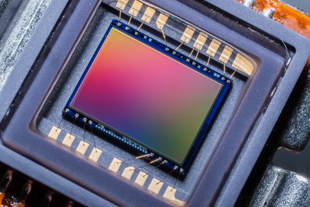 Photo pour Macro of a digital camera photo sensor chip - image libre de droit