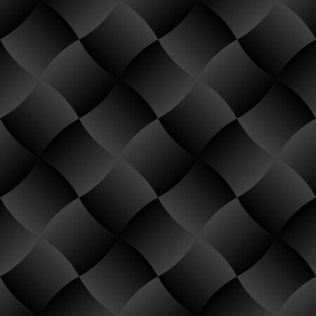 Illustration pour 3D Black Curve Gradient Tile Seamless Pattern Background Vector Illustration - image libre de droit