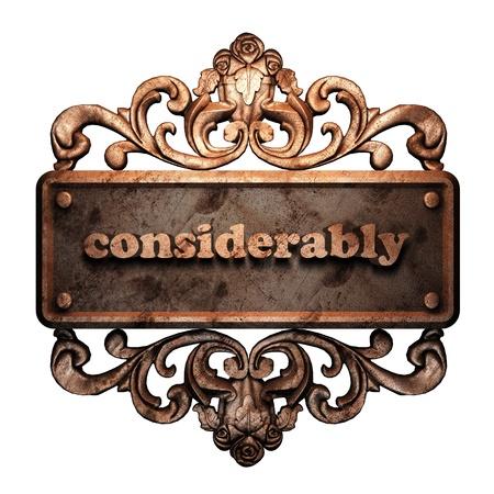 Word on bronze ornament