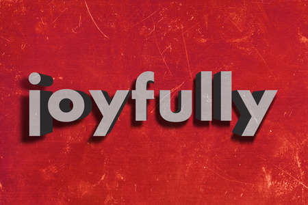 gray word on red wall