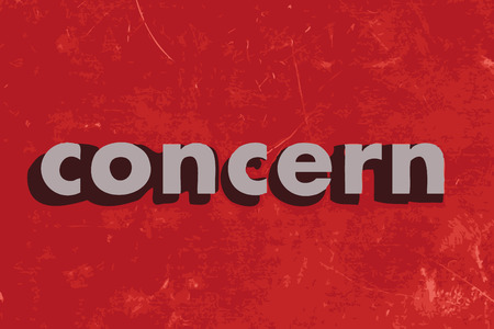 concern vector word on red concrete wall