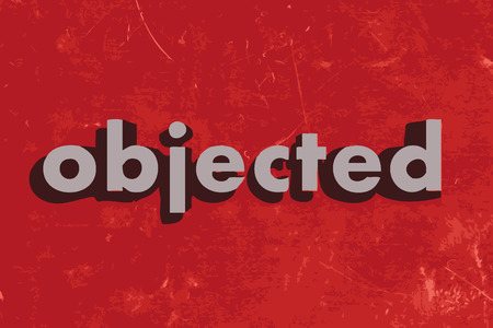 objected vector word on red concrete wall