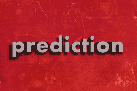 prediction vector word on red concrete wall