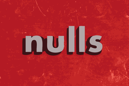 nulls vector word on red concrete wall
