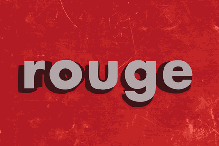 rouge vector word on red concrete wall