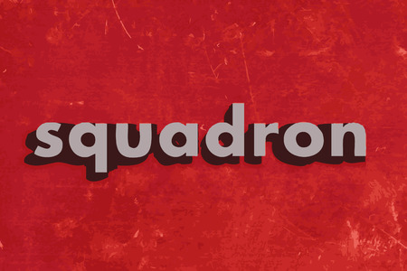 squadron vector word on red concrete wall