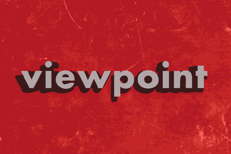 viewpoint vector word on red concrete wall