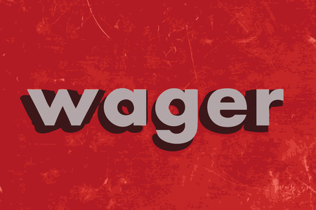 wager vector word on red concrete wall