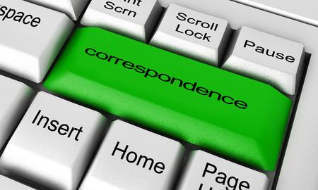 correspondence word on keyboard button