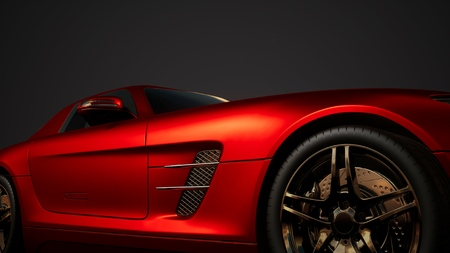Photo for luxury sport car in dark studio with bright lights - Royalty Free Image