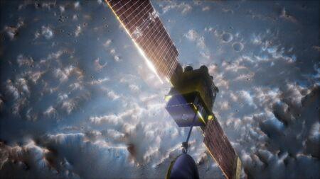 Photo for Global Surveyor orbiting Mars planet - Royalty Free Image