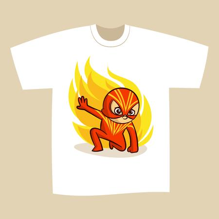 dfd38e65 T-shirt Print Design Cartoon Superhero Vector Illustration: Royalty ...