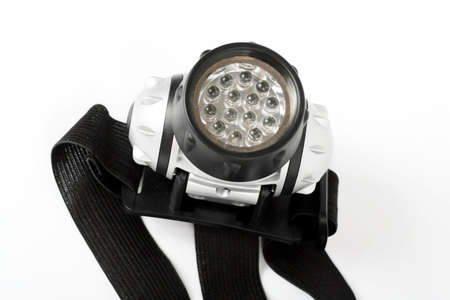 Super bright LED HeadLamp isolated on white background