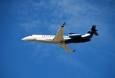 Modern business jet
